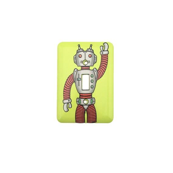 Robot Light Switch Plate - Waving Robot