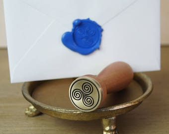 Triple Spiral Wax Seal and Sealing Wax