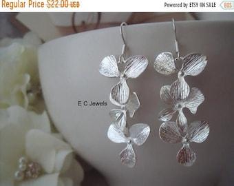 Summer Sale Triple Orchid Earrings