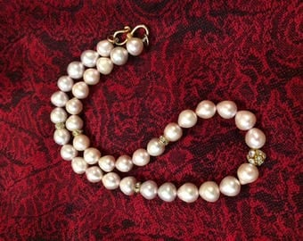 Freshwater Pearl T-Drop Baroque Necklace