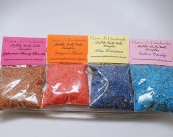 Bubble Bath Salts, Fizzing Bath Salts, Bubble Bar,Bath Salts,Bath Bomb,Fairy Dust,Fizzing or Bubble Bath Sampler MIX N' MATCH 6 packs for 7