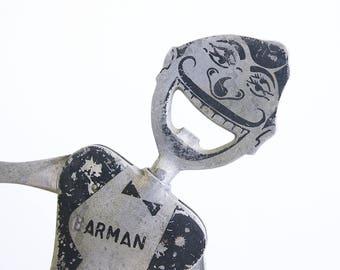 Vintage Bottle Opener / Carlo Gemelli Barman / Mid Century Barware