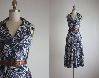 botanical indigo dress