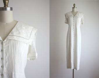 collared linen market dress
