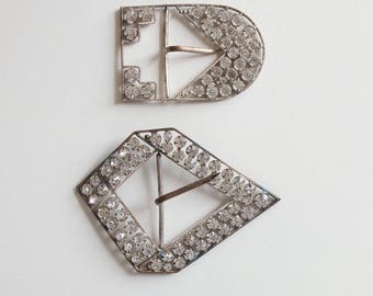 20s Art Deco Rhinestones Buckle