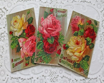 Antique Postcards - Roses