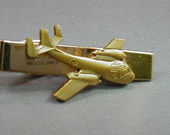 Vintage Air Force Bomber Plane Tie Clip