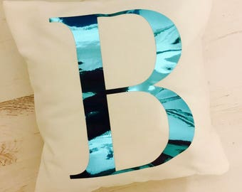 Initial Cushion - Alphabet Cushion - Initial - Personalised Cushion - Name Cushion - Foil Cushion - Baby Gift - Child's Gift - Letter
