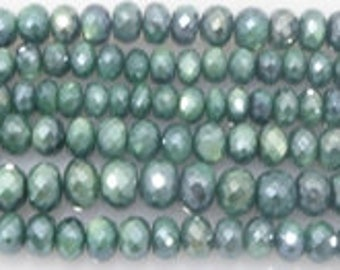 coated moonstone facetetd green very sparkling