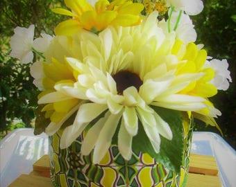 Secret Garden Jewelry Holder - Jewelry Hideaway Box - Green Yellow