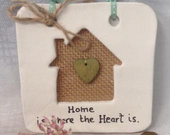 Home , ceramic wall hanging/ tile/plaque