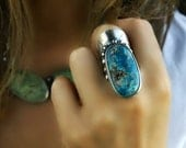 As Seen from Above - Chrysocolla Sterling Silver Ring