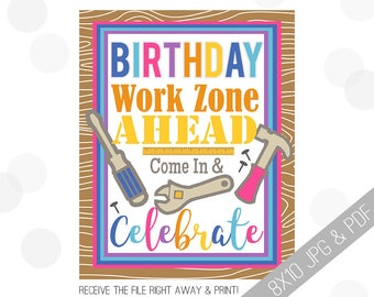 Tool Party Printable Sign | Girl Tools Welcome Sign | Tools Door Sign | Construction Party Welcome | Tool Party | Tool Birthday Girl