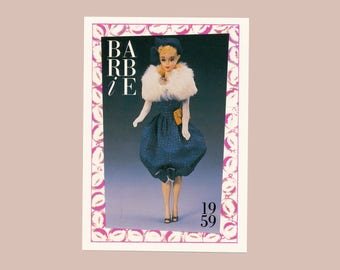 """Barbie Collectible Trading Card - """"Gay Parisienne"""" 1959 - Card No. 9 for Barbie collectors, dioramas, Barbie history"""