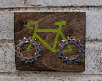 "6""x5"" Recycled Bicycle Road Bike Plaque"