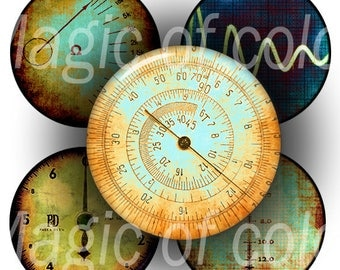 Rusty Scales - 63  1 Inch Circle JPG images - Digital  Collage Sheet