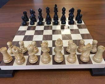 Luxury Chess Board Walnut and Maple 12 x 12