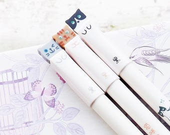 Little Cat Pen - Black Ink - Fine line - Cute Stationery
