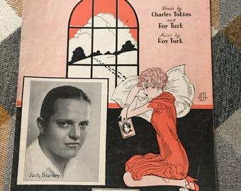 Vintage 1928 After My Laughter Came Tears Sheet Music