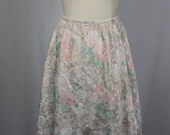 1980s Vintage Half Slip / Dreamtime floral Rare Color Slip