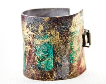 Leather Jewelry - Bijou Women's Cuff Bracelet - Made in the USA - Gift Under 50