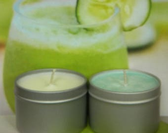 Cucumber Candles, Cucumber Melon Candles, Handmade Candles. Homemade Natural Soy Candles
