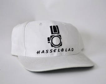Vintage Hasselblad Baseball Cap Hat 80s Classic White Snapback Embroidered Camera Maker Medium Format German