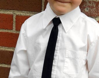 SALE Black Skinny Tie - Infant, Toddler, Boys- 2 weeks before shipping
