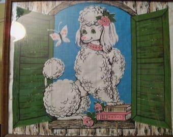 large framed  fancy poodle  art