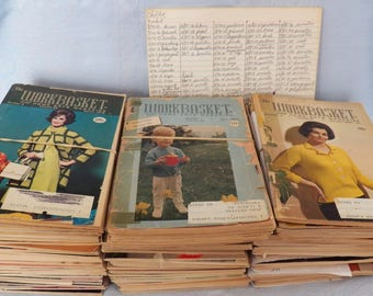 Vintage The Workbasket & Home Arts Magazine 96 Issues 1960s 1970s 1980s 1990s