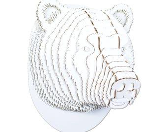 Stewart Cardboard Bear - Giant - White