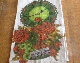 Parisian Prints Linen Towel - New Old Stock