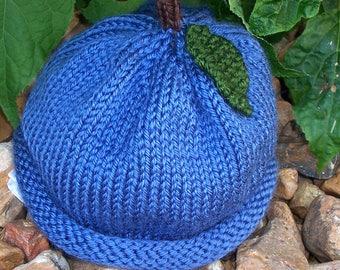 PATTERN - Blueberry Knit Baby Hat