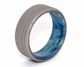 Wooden Wedding Rings, titanium wedding rings, wood rings, mens rings, womens rings, maple wedding band - BELIEVE IN YOU