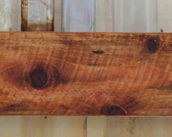 "Box Shelf - 66"" LONG x 9"" DEEP x 4"" TALL - Floating Wood Shelf - Rustic Wall Shelving - Wooden"