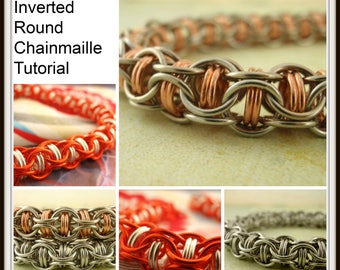Captured Inverted Round Chainmaille Tutorial - PDF