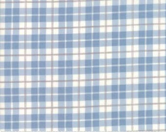 Posh Plaid in Blue LILY and WILL REVISITED by Bunny Hill Designs  Moda 2806 22 blue and gray brown plaid