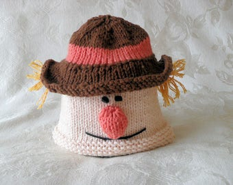 Baby Hats Knitting Knit Baby Hat Hand Knitted Scarecrow Baby Beanie Cotton  Knitted Baby Beanie Halloween Baby Hat Scarecrow Knitted Hat