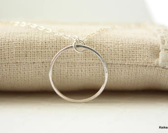 Circle Necklace , Open Circle Necklace , Gift for Her , Handmade Jewelry