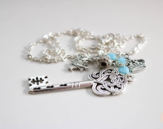 Alice in Wonderland inspired Charm Necklace.