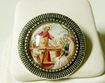 Holy family pin/brooch - BR09-053