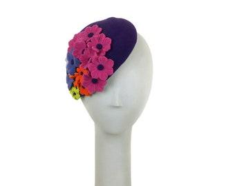 Kentucky Derby Hat, Easter Hat, Fascinator Hat, Mother of the Bride Hat, Wedding Hat, Church Hat, Easter Bonnet, Fascinator Hat, Flower Hat