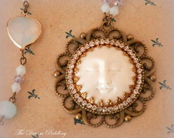 Moon Dream Necklace. Opalite and Crystal