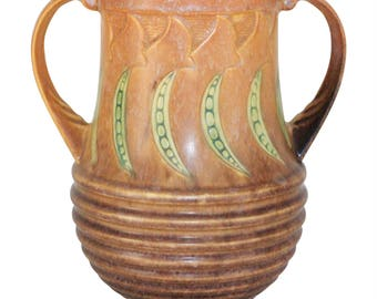Roseville Pottery Falline Brown Vase 652-9