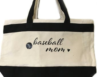 Baseball Mom Tote Girl Mom Mom Life The Best Life Gift For Mom From Kids Mama Mothers Day Christmas Birthday Blessed Forever