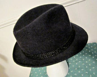 Wool Fedora, Dobbs Fifth Avenue Wool Hat, Size 7 1/8 Fedora