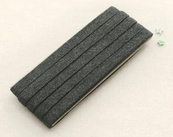 Thin Knit Double fold Bias, Chacoal, U3050