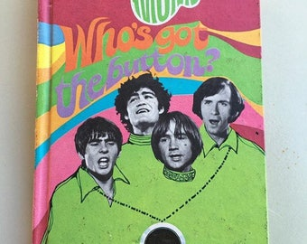 "1968 collectible The Monkees ""Who's Got the Button?"" Hardcover book"