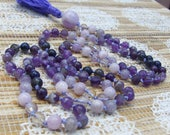 Amethyst Mala, Ametrine Mala, Iolite Mala, Kunzite Mala, Pink Mala, Purple Mala, Mala Beads, Japa Mala, Prayer Beads, Yoga Necklace