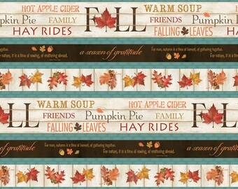 Wilmington Prints - Colors Of Fall - Repeating Stripe - Multi Fabric by yard or select cut  84411-284